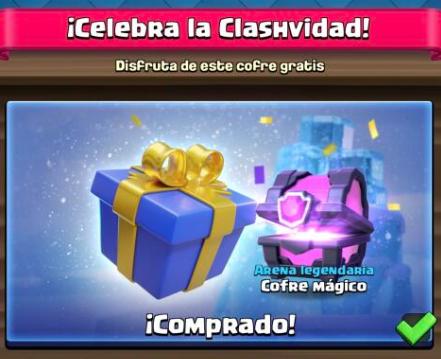 Cofre mágico gratis ! (Clash Royale)