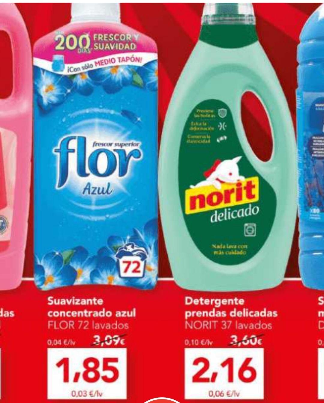 OFERTAZA Suavizante Flor 1,85€ y detergente Norit 2,16€ Supermercado Día catálogo nuevo