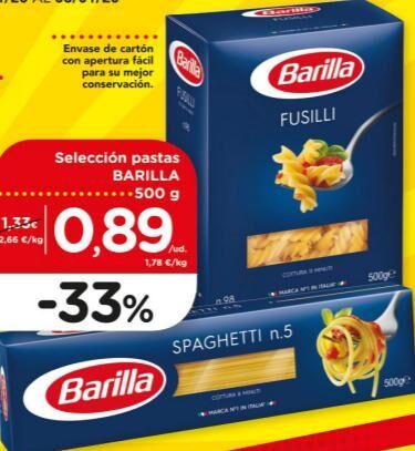Pasta Barilla a 0,89€, gula del norte al 2x1 y resto de ofertas del nuevo catálogo de DIA
