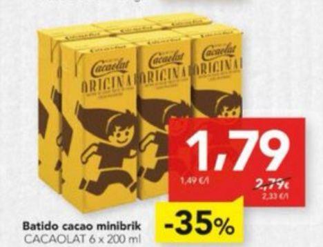 Cacaolat. Batido de cacao. pack 6 unidades (200 ml.)