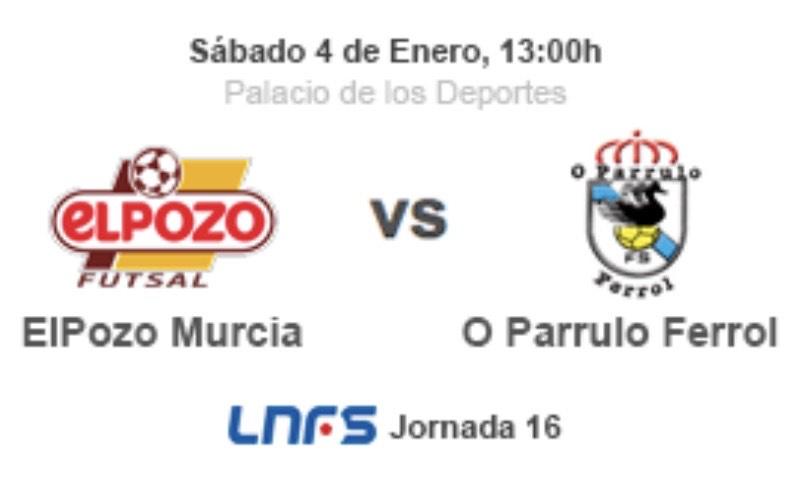 Entrada infantil GRATIS ElPozo vs O Parrulo Futsal