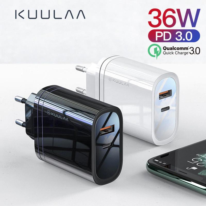 KUULAA Cargador Rapido 3.0 36W USB 4.0 PD 3.0 EU (Con cupón del vendedor)