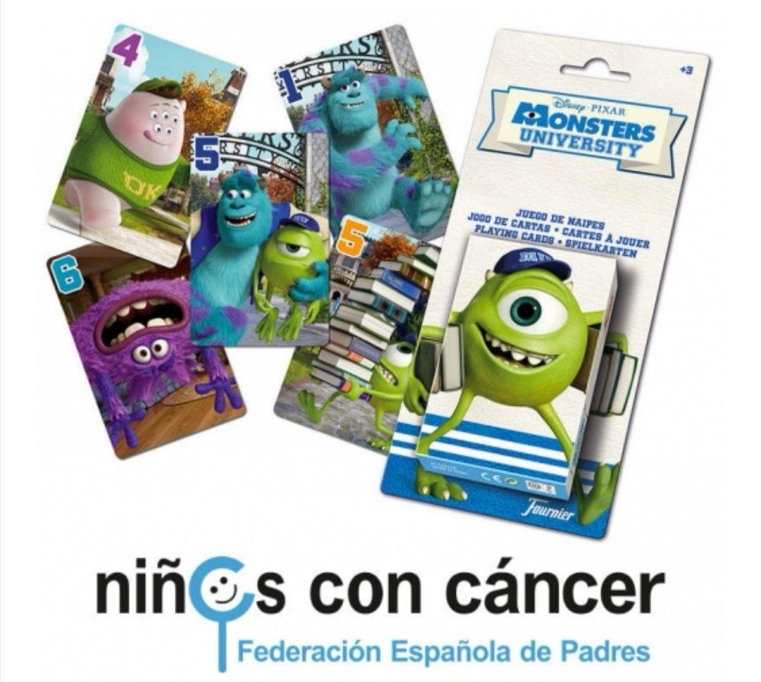 Baraja Cartas Monster University Disney PARA AYUDAR A LA FEDERACIÓN ESPAÑOLA DE PADRES NIÑ@S CON CÁNCER.