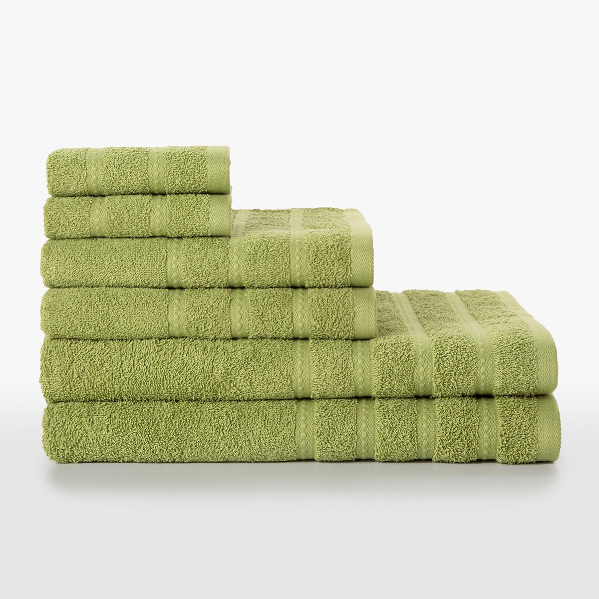 Juego de 6 toallas de algodón de 450 gr/m2