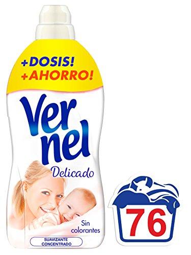 Vernel Suavizante Concentrado Delicado - 76 lavados - 1.7L