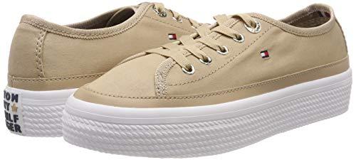 TALLA 41 - Tommy Hilfiger Corporate Flatform Sneaker, Zapatillas para Mujer