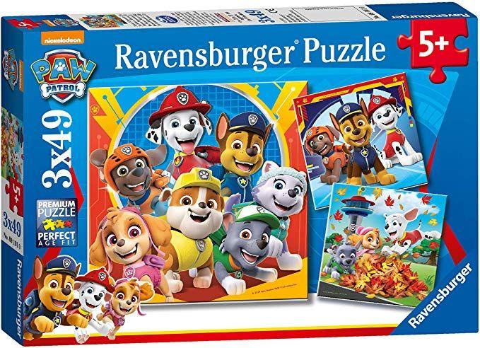 Puzzle Patrulla Canina, pack de 3 x 49 piezas (PRODUCTO PLUS)