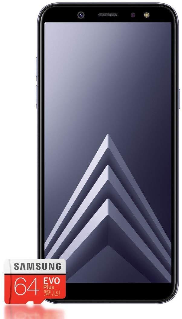 Samsung Galaxy A6 + tarjeta SD de 64 Gb (muy buen estado 116,25 y como nuevo 122,5 euros) es la version alemana