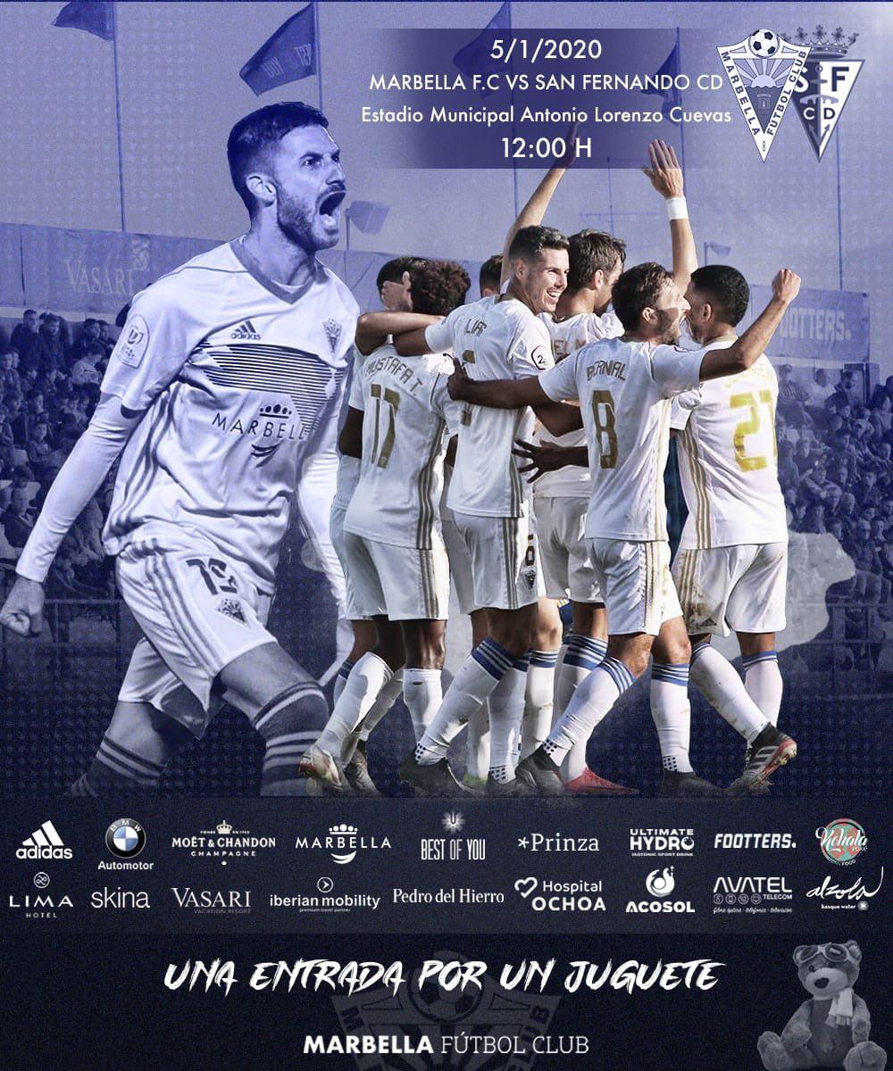 Entrada GRATIS por juguete para Marbella FC - San Fernando