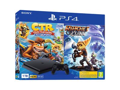 PS4 Slim 1TB + Crash Bandicoot Nitro fueled + Ratchet & Clank