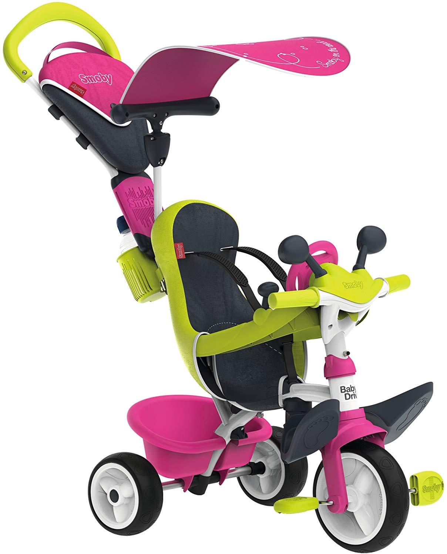 Triciclo Baby Driver Confort rosa con cuadro de metal - REACO
