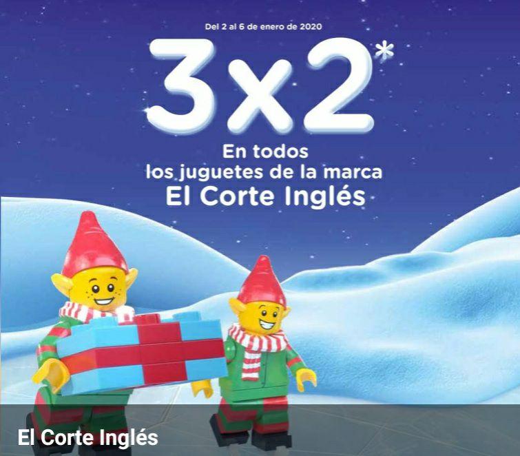 3X2 en juguetes marca Corte Inglés