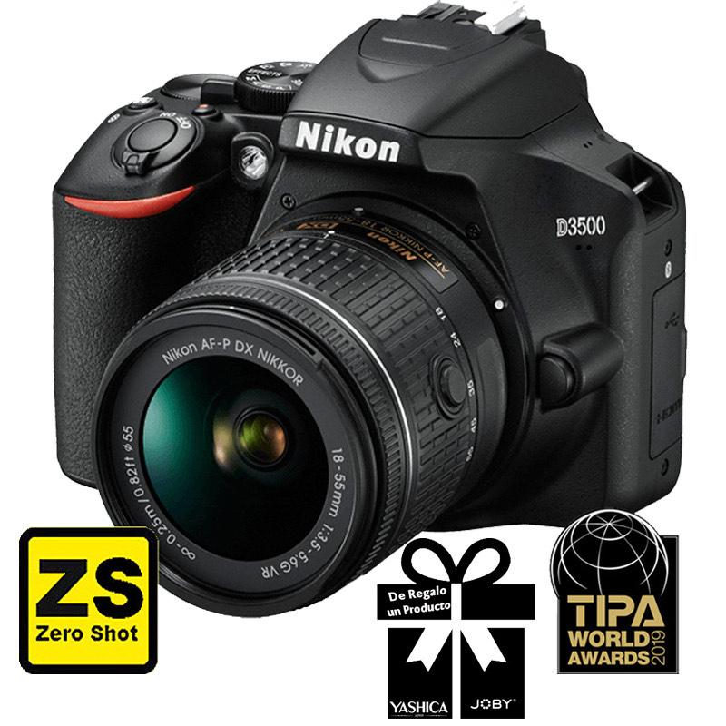 Cámara Nikon D3500 + Objetivo AF-P DX NIKKOR 18-55mm f/3.5-5.6G VR