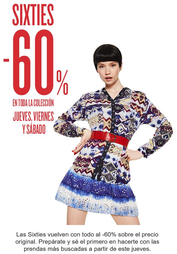 60% de descuento en toda la colección de mujer, hombre y niños de DESIGUAL.