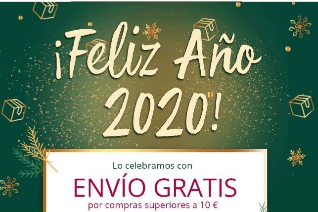 Gastos de envíos gratis y regalos. Solo días 1 y 2 de enero 2020