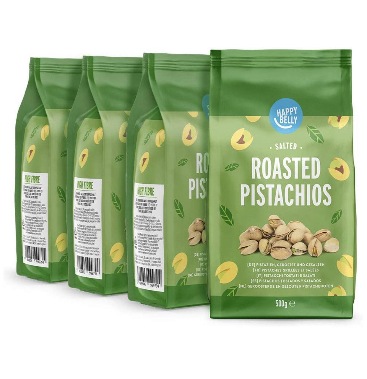 Pistachos Happy Belly 4 paquetes de 500g (¡2kg!)