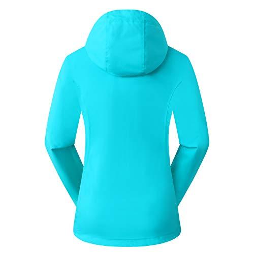 Eono Essentials - Chaqueta impermeable de entretiempo para mujer, XS (azul)
