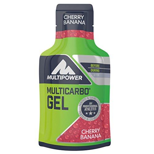 24 Unidades de Multipower Multi Carbo Energy Gel de Nutrición Cereza Plátano [PLUS]