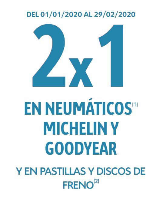 2x1 en neumaticos (todas las marcas) 2x1 en pastillas y discos de freno (solo citroen)