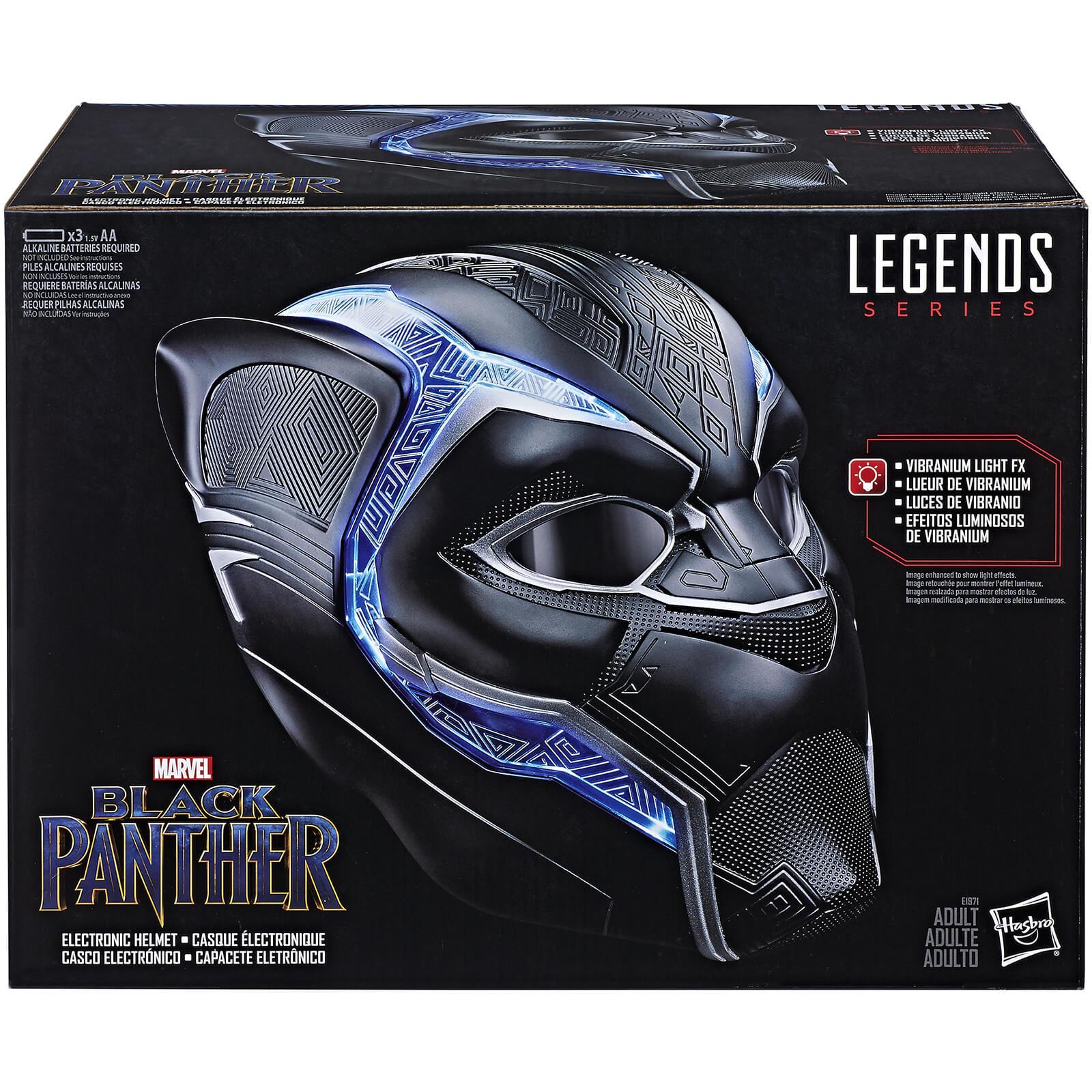 Marvel: Casco Interactivo Black Panther (Efectos luminosos, lentes que se cierran y abren...)