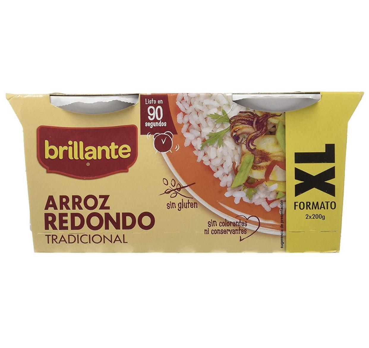 8 Packs de 2 Arroz Redondo Brillante XL (16 vasos)