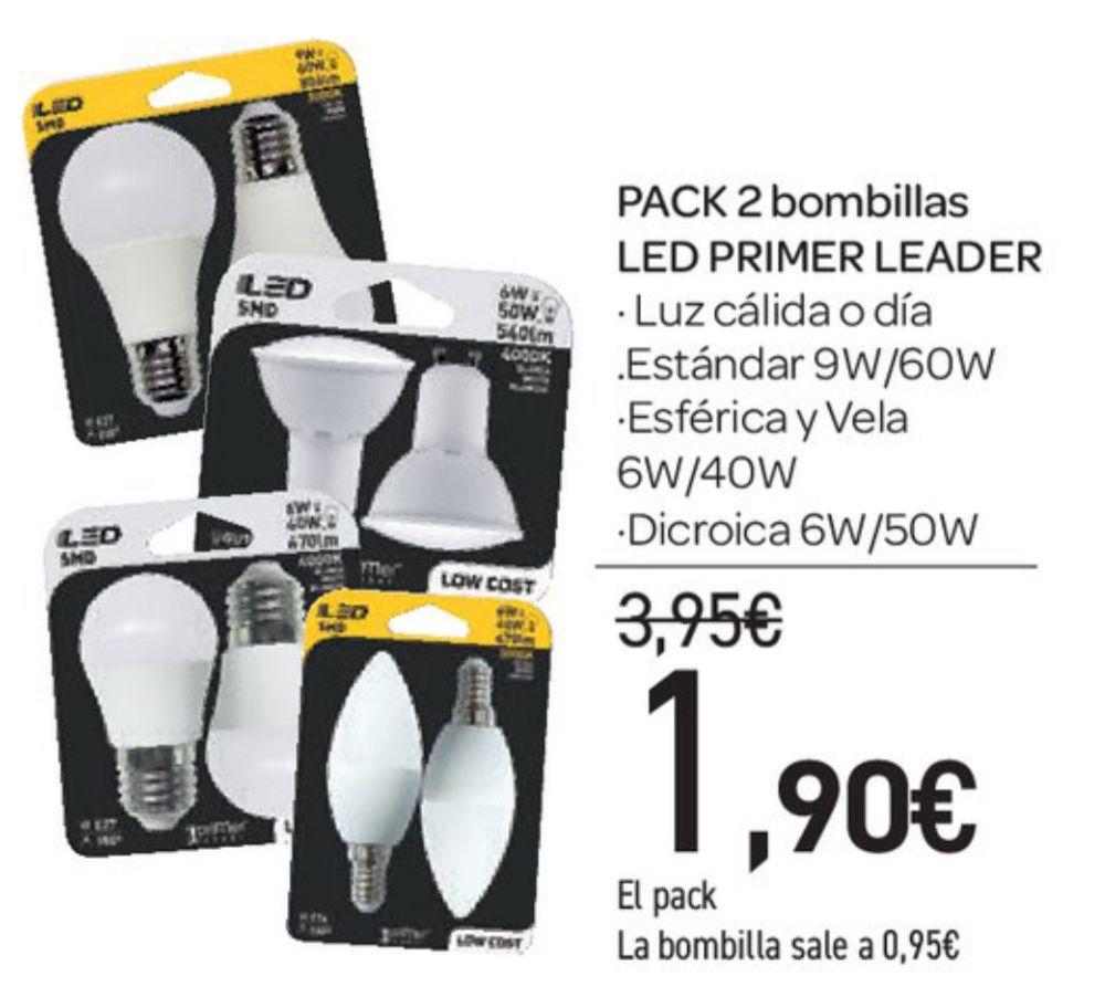 Pack 2 Bombillas Led Primer Leader Carrefour Chollometrocom
