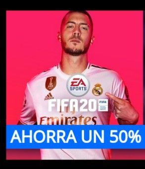 FIFA 20 Play Station Store y demás plataformas 50% hasta el 6 de enero.