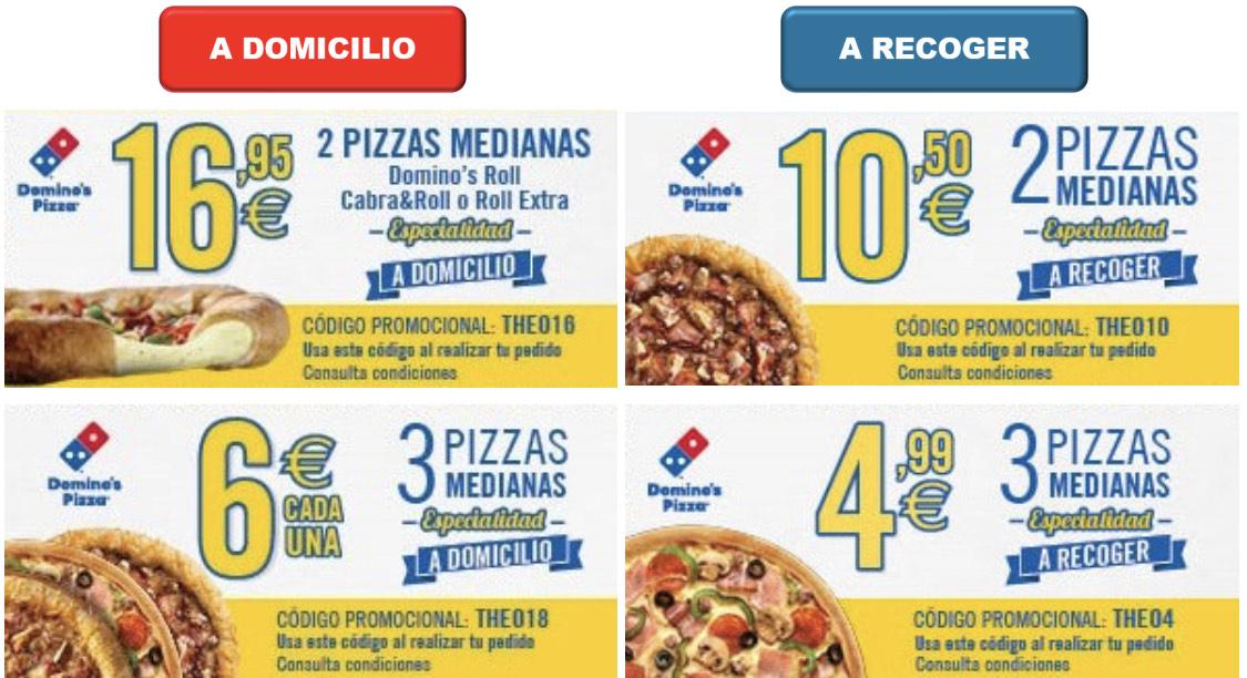 Nuevos cupones para Domino's Pizza 2020