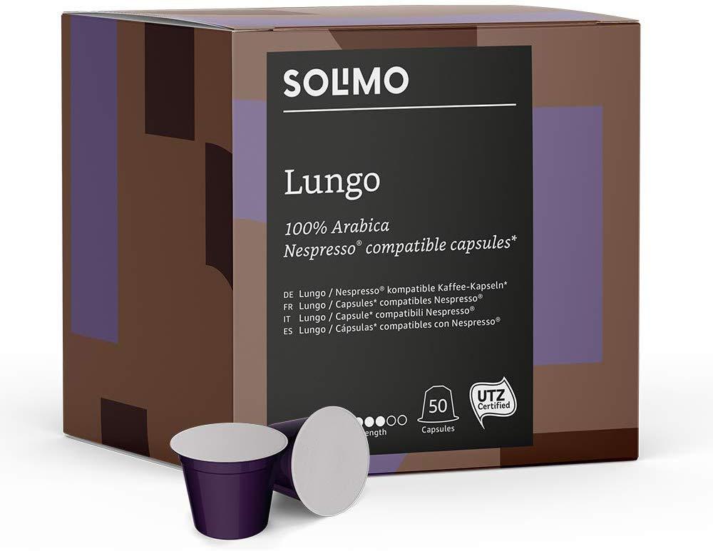 Marca Amazon - Solimo Cápsulas Lungo, compatibles con Nespresso PRIMENOW