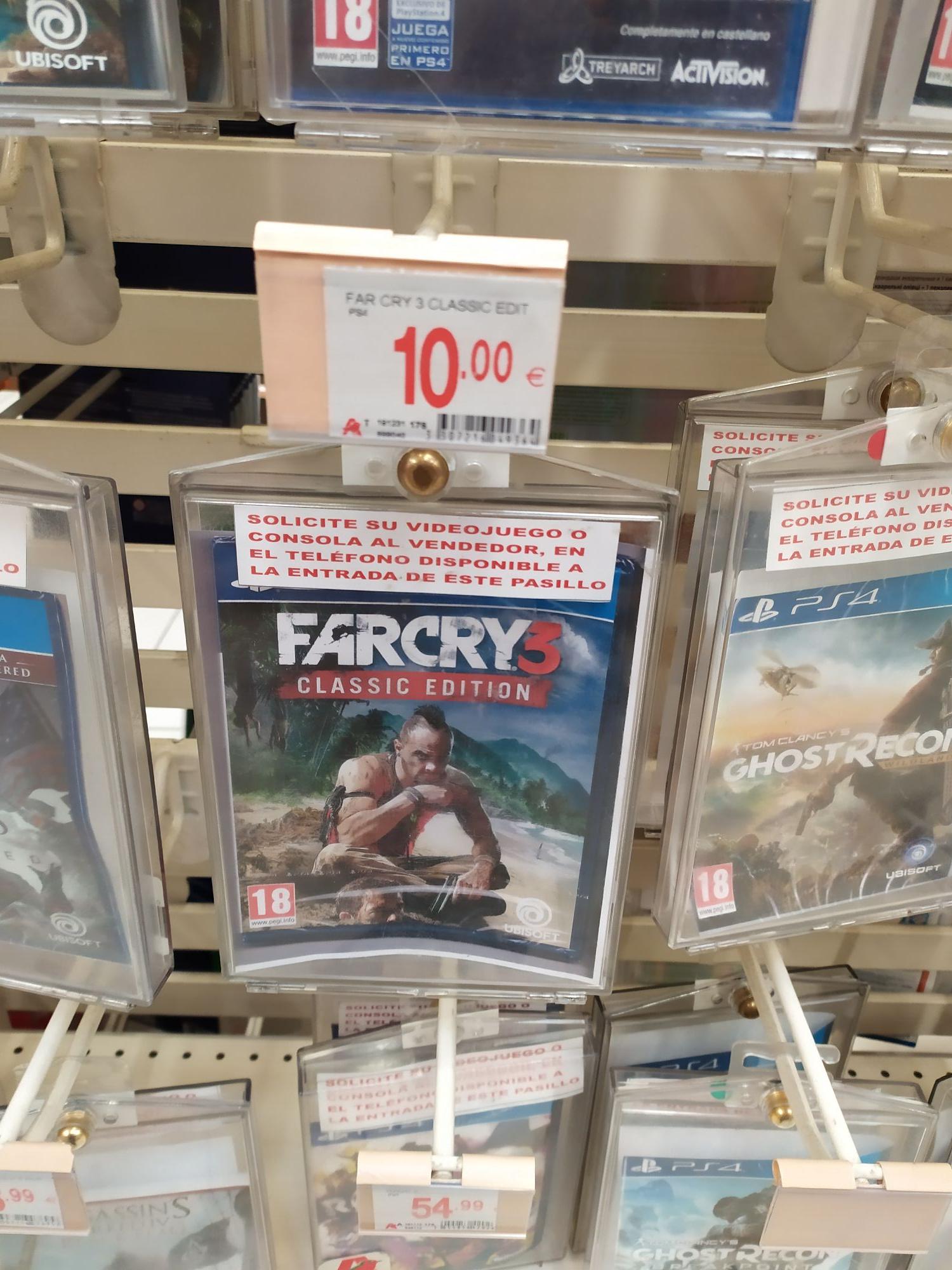 Farcry 3 ps4 Alcampo leganes físico y palpable