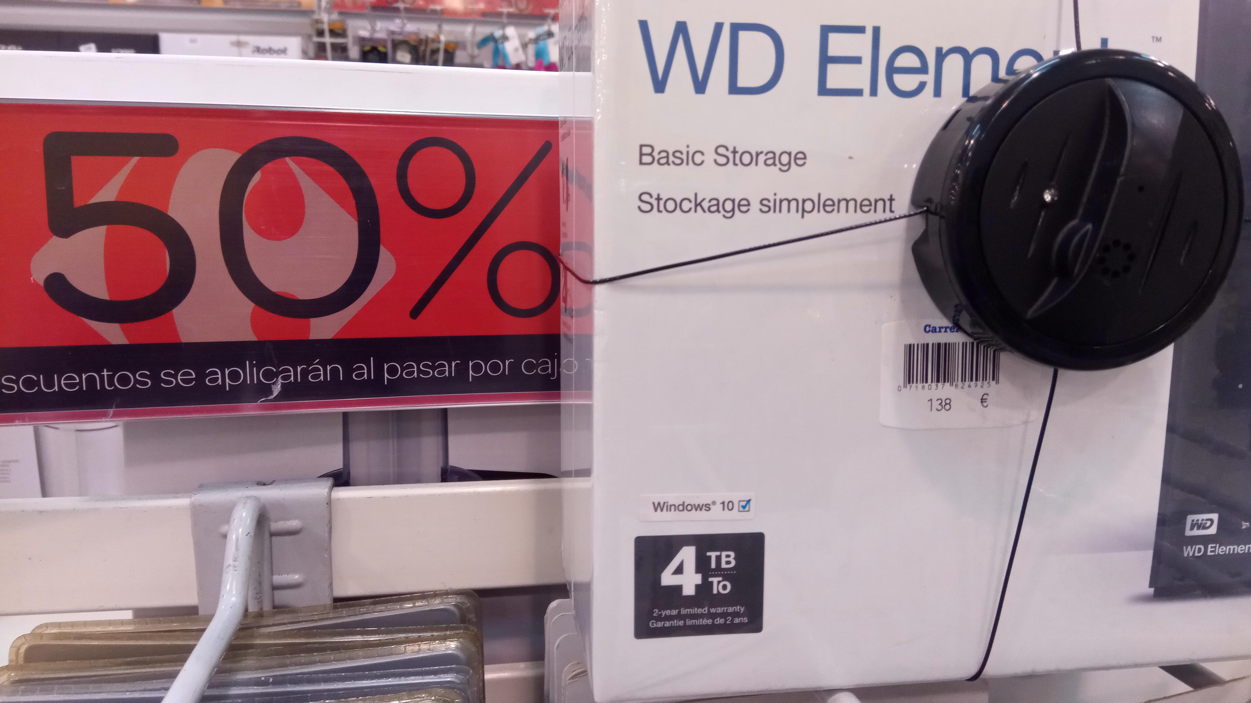 WD Elements 4 TB Externo 3.0 (OUTLET CC GORBEIA VITORIA)