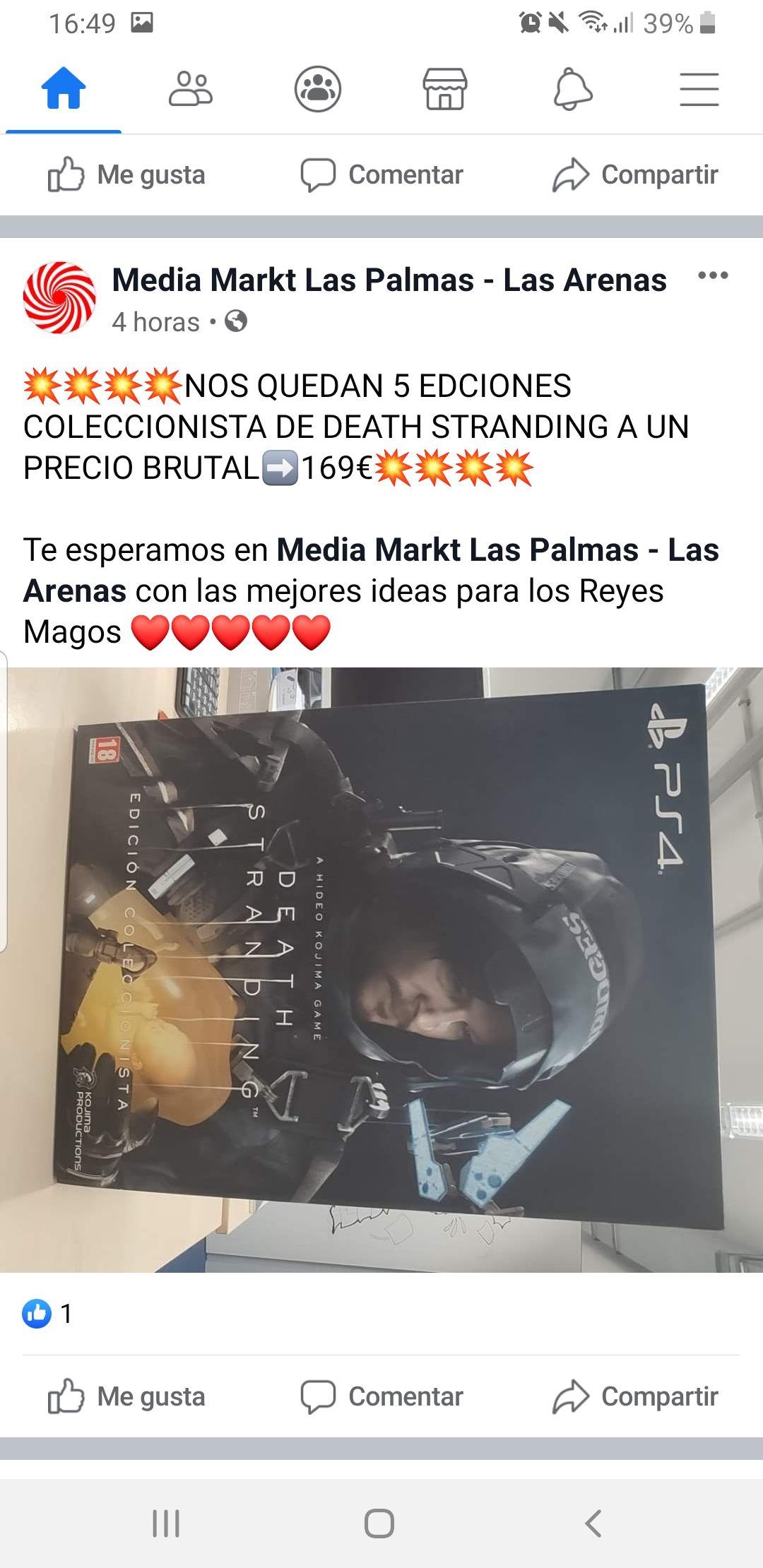 Edición Coleccionista Death Stranding (MediaMarkt Las Arenas)
