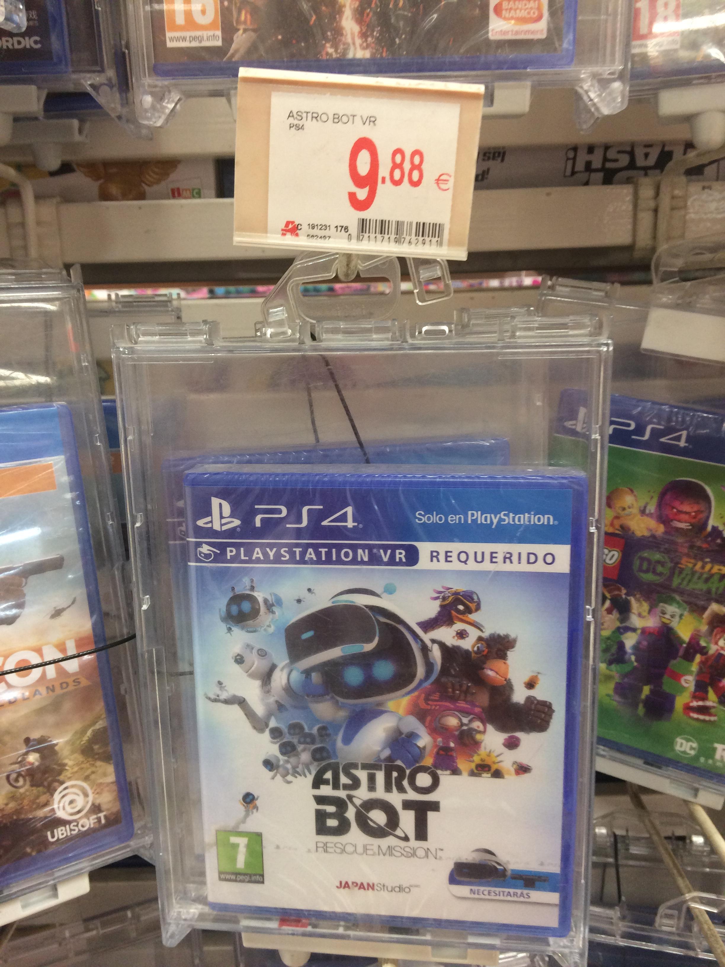 AstroBot: Rescue Mission VR PS4 Alcampo Bonaire valencia