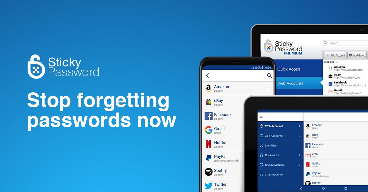 Sticky Password Premium de por vida (Password Manager)