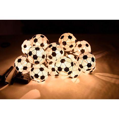Guirnalda solar tipo pelotas de fútbol