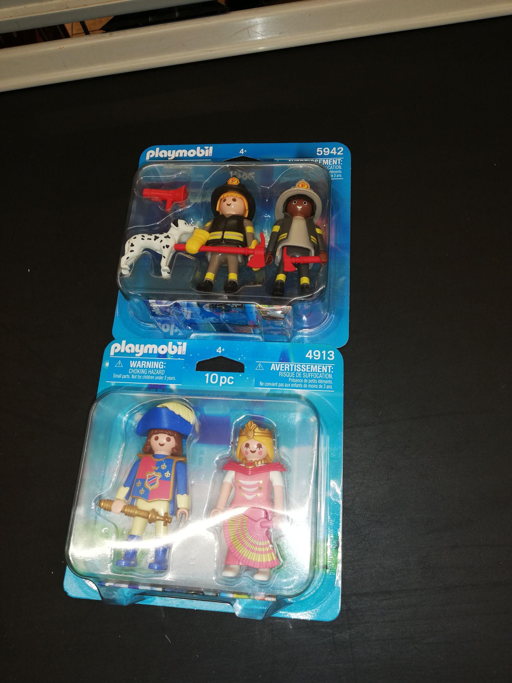 Dos figuras de Playmobil duo, menor precio imposible