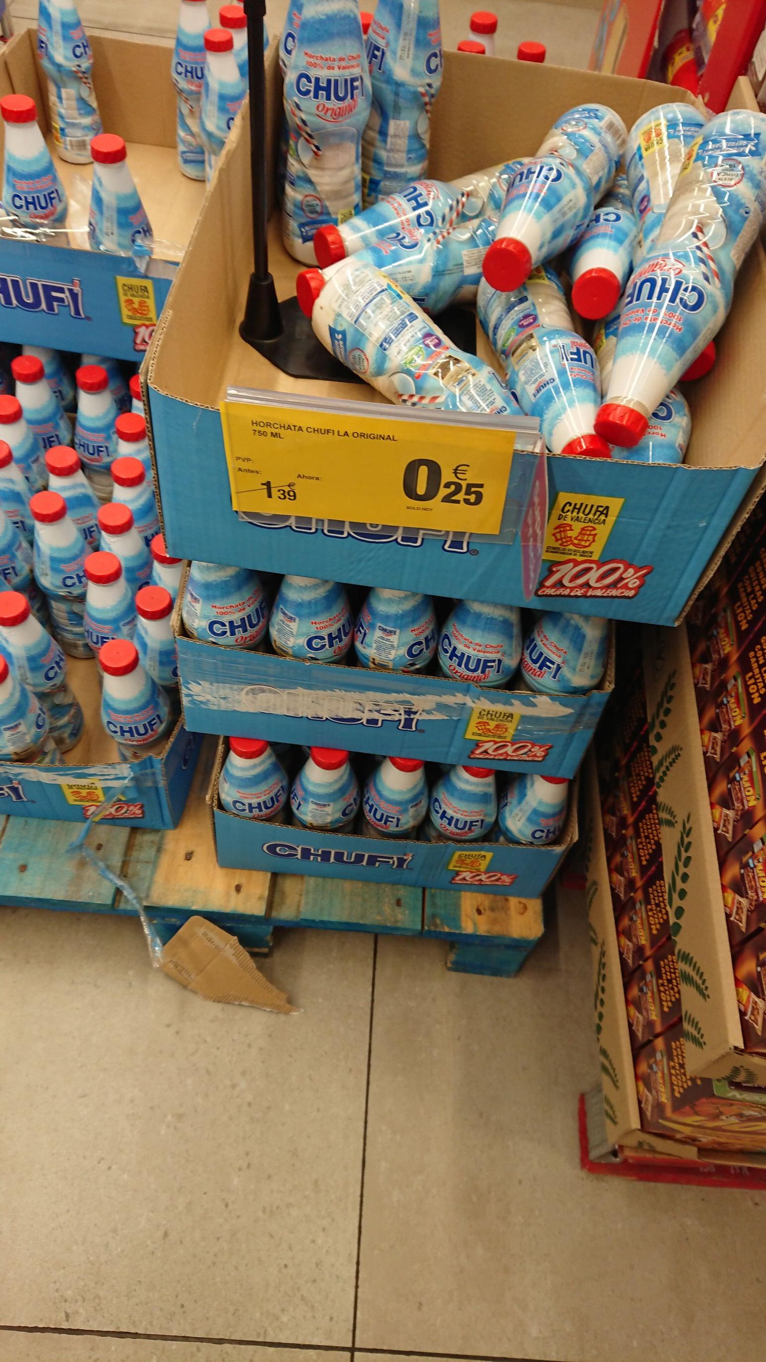 Horchata Chufi 750ml por 0.25€ (Carrefour Finestrat, Alicante)