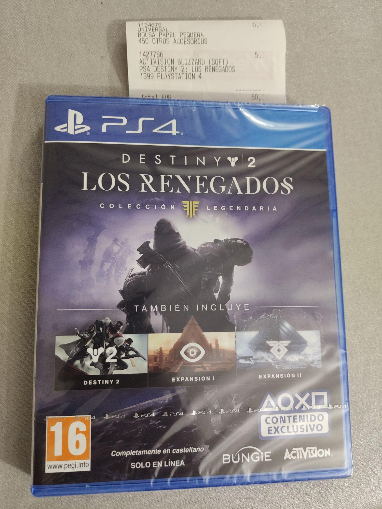 Destiny 2 colección legendaria ps4 (MediaMarkt de Sant Cugat)