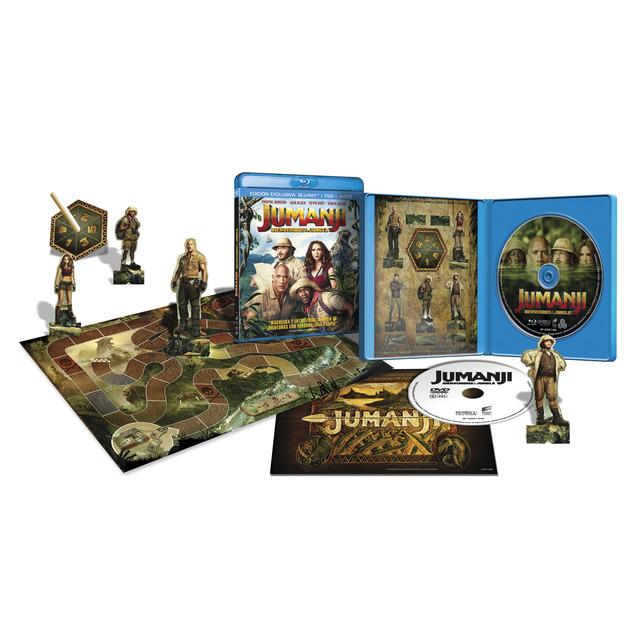 Edición especial Jumanji: Bienvenidos a la jungla (Blu-Ray + DVD + juego de mesa)