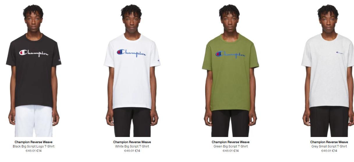 Camisetas Champion y otras prendas [Oferta]