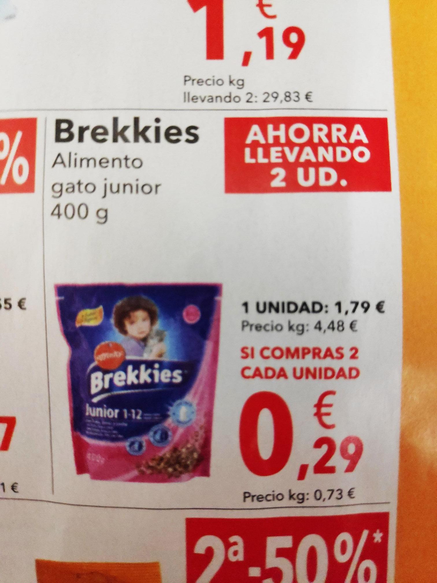 Alimento seco para gatos brekkies en Clarel