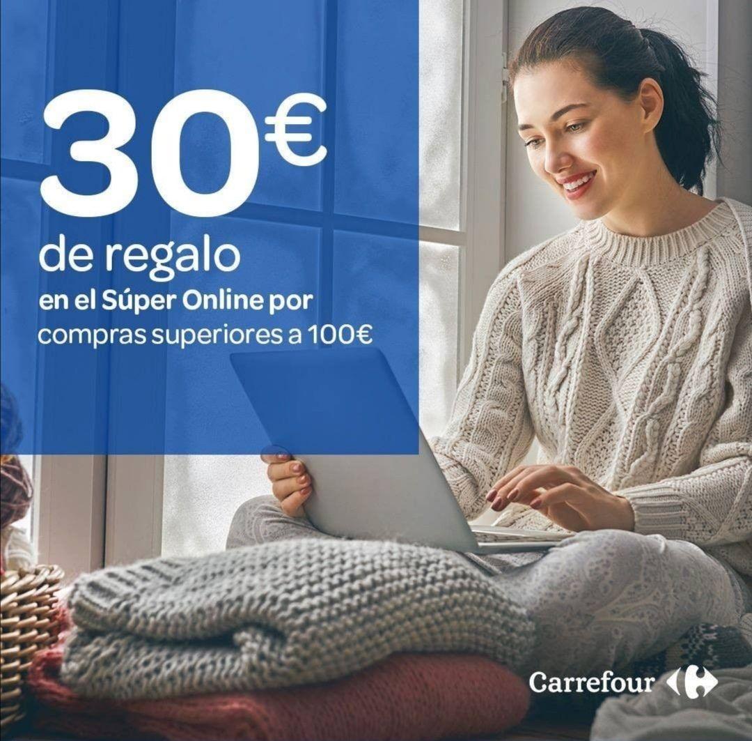 30€ de regalo en el súper online de Carrefour por compras superiores a 100€!!!