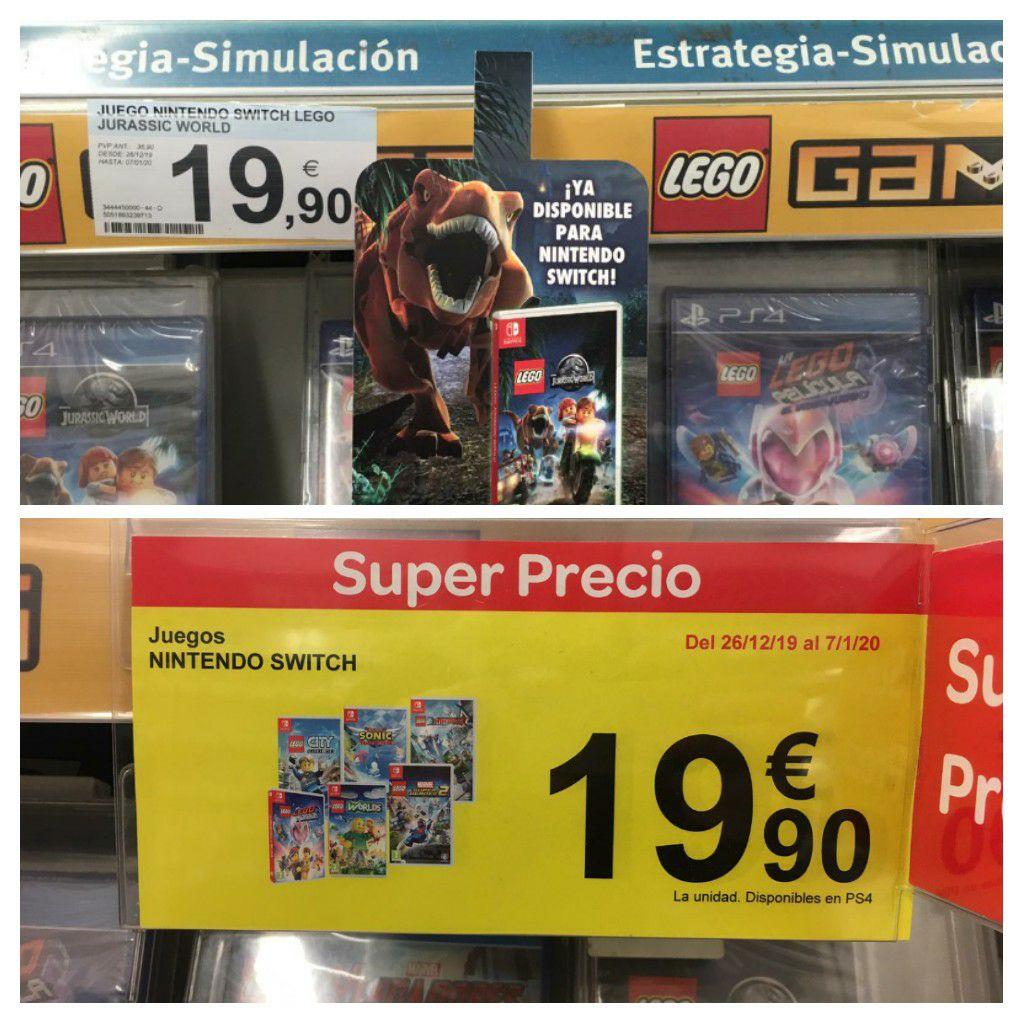 Juegos de Lego para Switch a 19.90