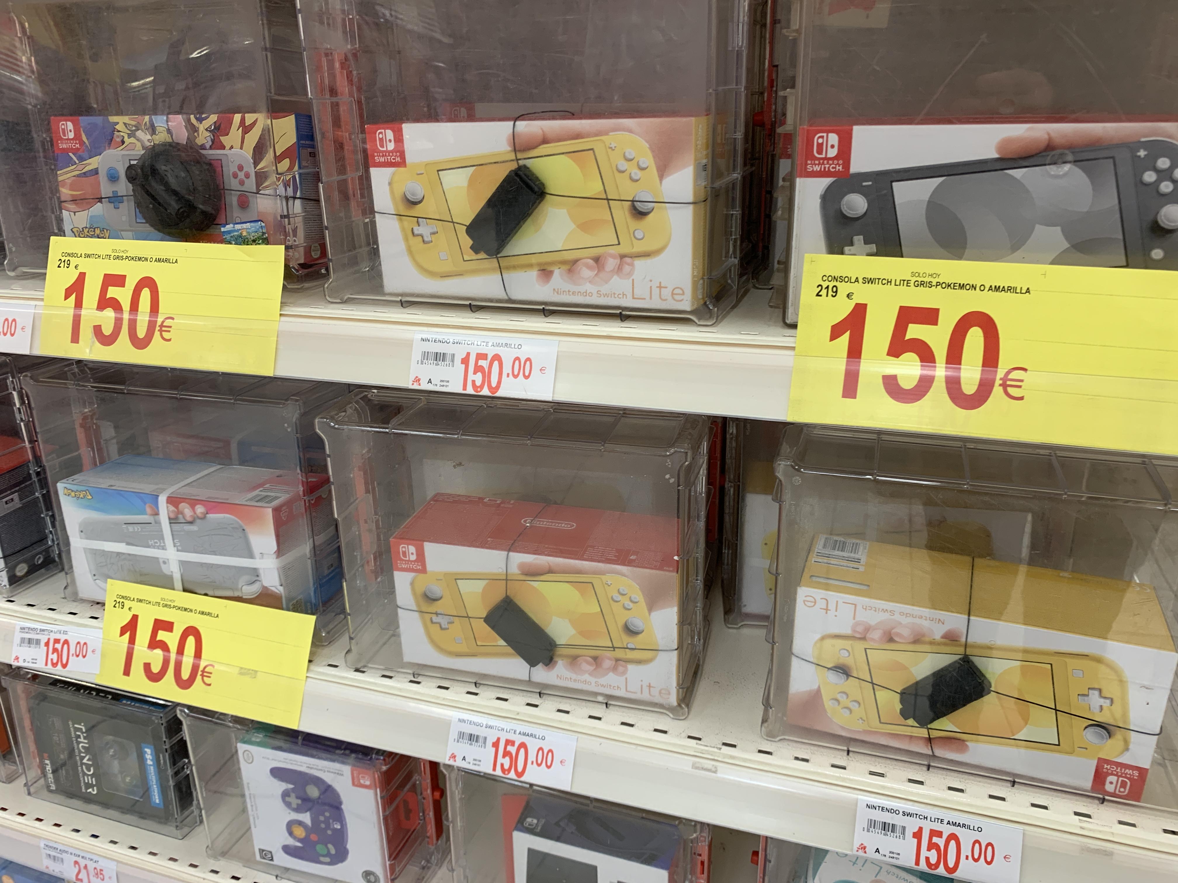 Nintendo Switch Lite a 150 euros en Alcampo Gijón
