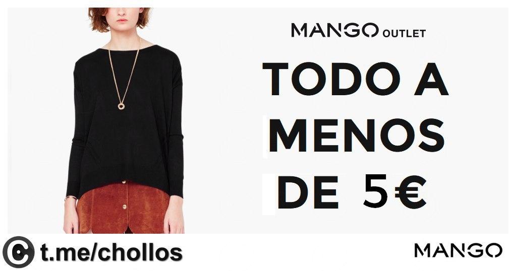 Todo a menos de 5€ en Mango Outlet