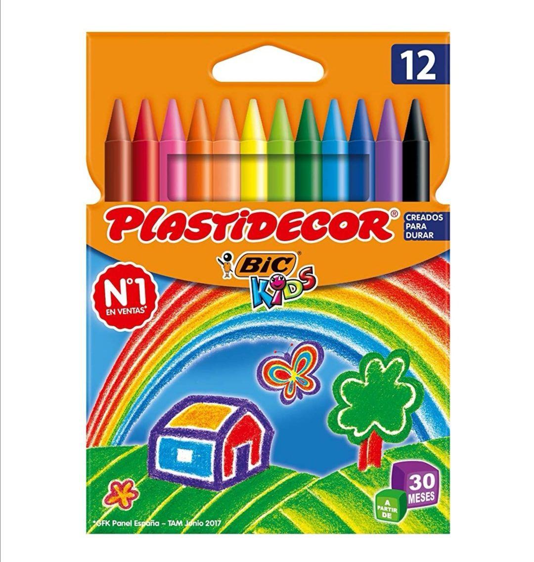 BIC Kids Plastidecor - Blíster de 12 unidades .