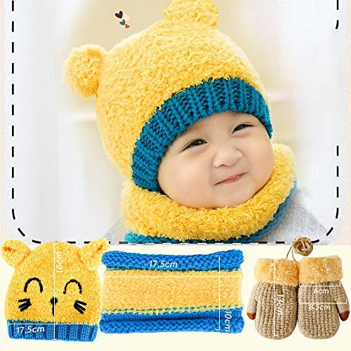 Gorrito, guantes y bufanda bebé, 2ccolores a elegir