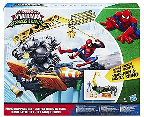 Spider-Man Marvel Rhino Rampage Play Set (COMO NUEVO)
