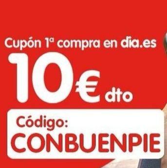 Cupón - 10 € EN TU PRIMERA COMPRA EN DIA ONLINE.