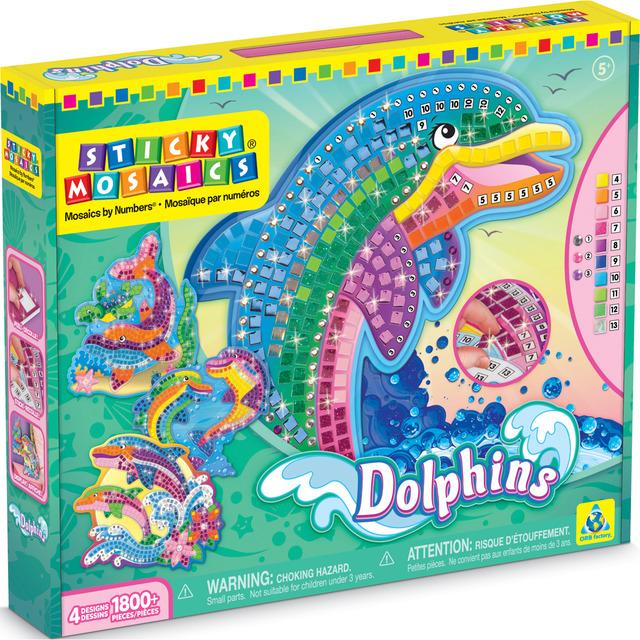 Juego Sticky Mosaics Delfines